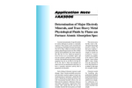 AA3006 Determination of Major Electrolytes, Minor Minerals, and Trace Heavy Metals in Physiological Fluids by Flame and Graphite Furnace Atomic Absorption Spectroscopy - Application Notes