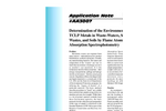 AA3007 Determination of the Environmental TCLP Metals in Waste-Waters, Solid Wastes, and Soils by Flame Atomic Absorption Spectrophotometry - Application Notes