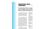 AA3003 Determination of Major Components and Trace Contaminants in Assorted Plating Baths by Atomic Absorption Analysis - Application Notes