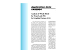 AA3004 Analysis of Whole Blood for Trace Lead (Pb) by Graphite Furnace AAS - Application Notes
