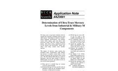 AZ3001 Determination of Ultra-Trace Mercury Vapor Levels from Industrial & Military Metal Components - Application Notes