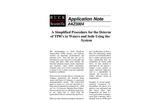AZ3004 A Simplified Procedure for the Determination of TPH`s in Water and Soils Using the HC-404 System - Application Notes