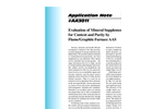 AA3011 Evaluation of Mineral Supplements for Content and Purity by Flame/Graphite Furnace AAS - Application Notes
