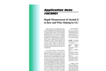 GC3001 Rapid Measurement of Alcohol (Ethanol) in Beer and Wine Making by GC/FID - Application Notes