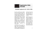 GC3006 Pesticide Analysis by GC/ECD/NPD & FID - Application Notes