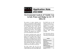 GC3008 Environmental Analysis of Volatile Compounds in Soil, Water and Sludge by GC/PID/DELCD - Application Notes