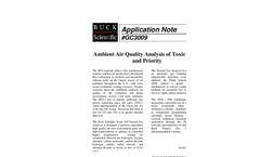 GC3009 Ambient Air Quality Analysis of Toxic Gases and Priority Pollutants by GC/TCD/FID - Application Notes