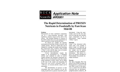 IR3001 The Rapid Determination of PROXIMATE Nutrients in Foodstuffs by Fast Scanning Mid-IR - Application Notes
