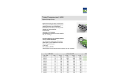 Triplex - Model K 4500 - Plunger Pump Brochure