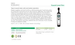 Sper Scientific - Model 840018 - Sound Level Pen - Datasheet