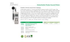 Sper Scientific - Model 840012 - Detachable Probe Sound Meter - Datasheet