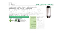 Sper Scientific - Model 850016 - 2 Pt. Acoustical Calibrator - Datasheet