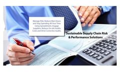 Sustainable Supply Chain Scorecards