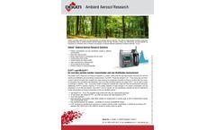 Ambient Aerosol Research - Brochure