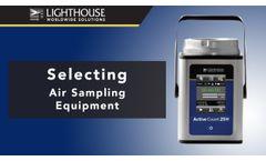 Selecting Air Sampling Equipment - Video