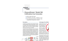 Model 500 Dynacalibrator® Calibration Gas Generators Brochure (PDF 248 KB)