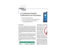 G-Calibrator Calibration Gas Generators Brochure (PDF 270 KB)