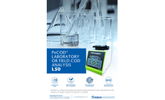 PeCOD - Model L50 - Laboratory or Field COD Analysis - Brochure