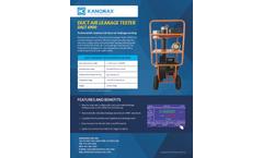 Kanomax - Model 6900 - Advanced Duct Air Leakage Tester (DALT) - Brochure