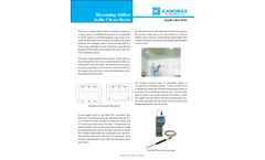 Measuring Airflow in the Cleanroom - Application Note