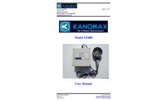 Kanomax - Model AT400 and TAT420 - Vane Type Airflow Transmitter - Manual