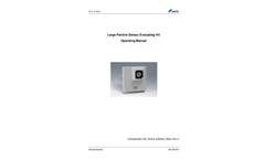 Kanomax - Model PM - Large Particle Sensor Evaluating Kit - Operating Manual