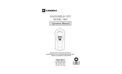Kanomax - Model 3800 - Handheld Condensation Particle Counter - Manual