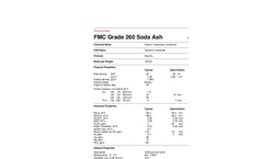 Dense Soda Ash Technical Data Sheets