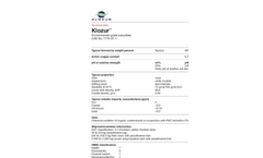 KlozurTM Environmental Grade Persulfate Technical Data Sheets