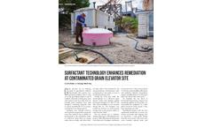 Surfactant technology enhances remediation at contaminated grain elevator site