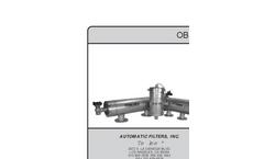 TEKLEEN - OBF Series - Automatic Self-Cleaning Water Filters Brochure