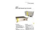 JNOX NO2 to NO Sample Gas Converter Datasheet