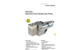 JCT - Model JSP-87Ex - Explosion Proof Sample Gas Pump - Datasheet