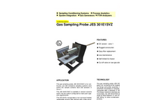 JES-301E1SVZ Gas Sampling Probe Datasheet