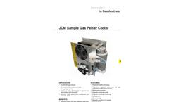 JCM Sample Gas Peltier Cooler Datasheet