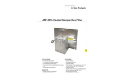 JCT - Model JBF-301L - Heated Sample Gas Filter - Datasheet