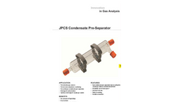 JCT - Model JPCS - Condensate Pre-Separator - Datasheet