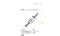 JCT - Model 11-LD - Automatic Liquid Drainer - Datasheet