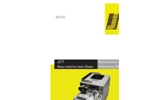 JCT - Model JCC-R / JCC-Q / JCC-P / JCC-L - Gas Conditioning Systems - Manual