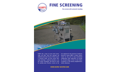 Kamps - Fine Screens With Automatic Brushing - Brochure