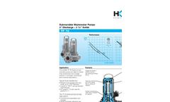 HOMA - Model TP 70 - Cast Iron Submersible Pumps - Brochure