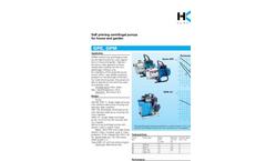 Model GPE, GPM - Self Priming Centrifugal Pumps Brochure