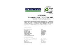 8x30 Mesh Granular Activated Carbon Brochure