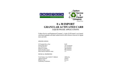 8 x 30 Import Granular Activated Carbon Brochure