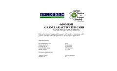 4x10 Mesh Granular Activated Carbon Brochure
