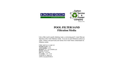 Pool Filter Sand Filtration Media Brochure