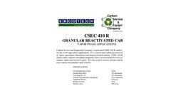 CSEC 410 R Granular Reactivated Carbon Brochure