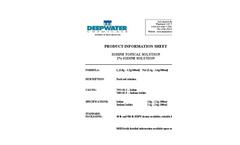 Inorganic Iodides - Iodine 2% Topical Solution USP Brochure