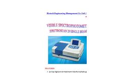 SpectroScan 20 Visible Scanning Single Beam Spectrophotometer Brochure