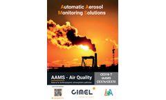 Cimel - Automatic Aerosol Monitoring System (AAMS) - Brochure